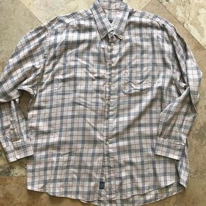 Burberry collard button down nova check shirt XXL